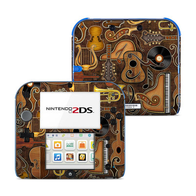 Nintendo 2DS Skin - Music Elements