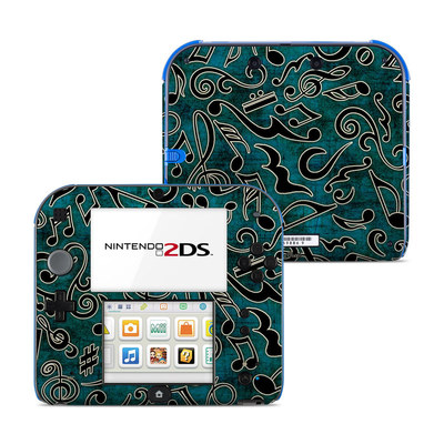 Nintendo 2DS Skin - Music Notes