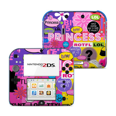 Nintendo 2DS Skin - Princess Text Me