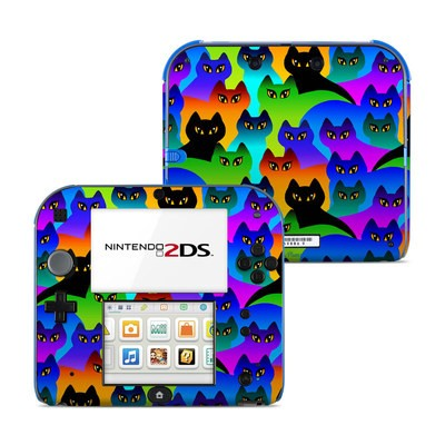 Nintendo 2DS Skin - Rainbow Cats