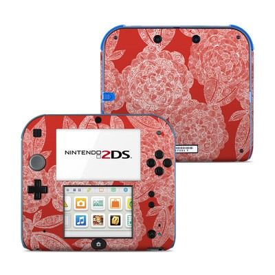 Nintendo 2DS Skin - Red Dahlias