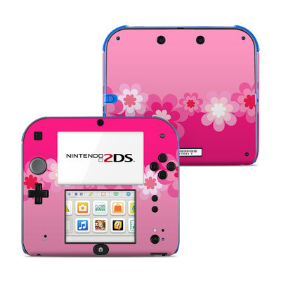 Nintendo 2DS Skin - Retro Pink Flowers