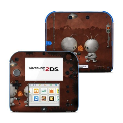 Nintendo 2DS Skin - Robots In Love