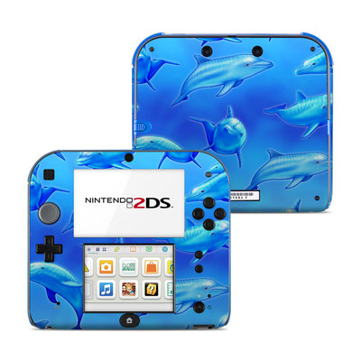 Nintendo 2DS Skin - Swimming Dolphins