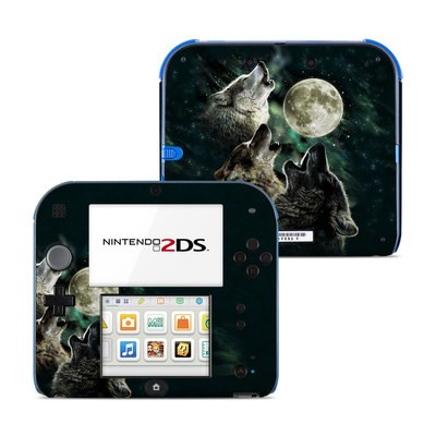 Nintendo 2DS Skin - Three Wolf Moon