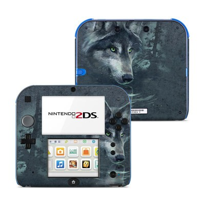 Nintendo 2DS Skin - Wolf Reflection