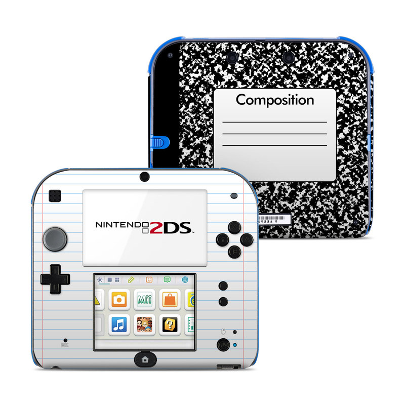 Nintendo 2ds Skin Composition Notebook By Retro Decalgirl