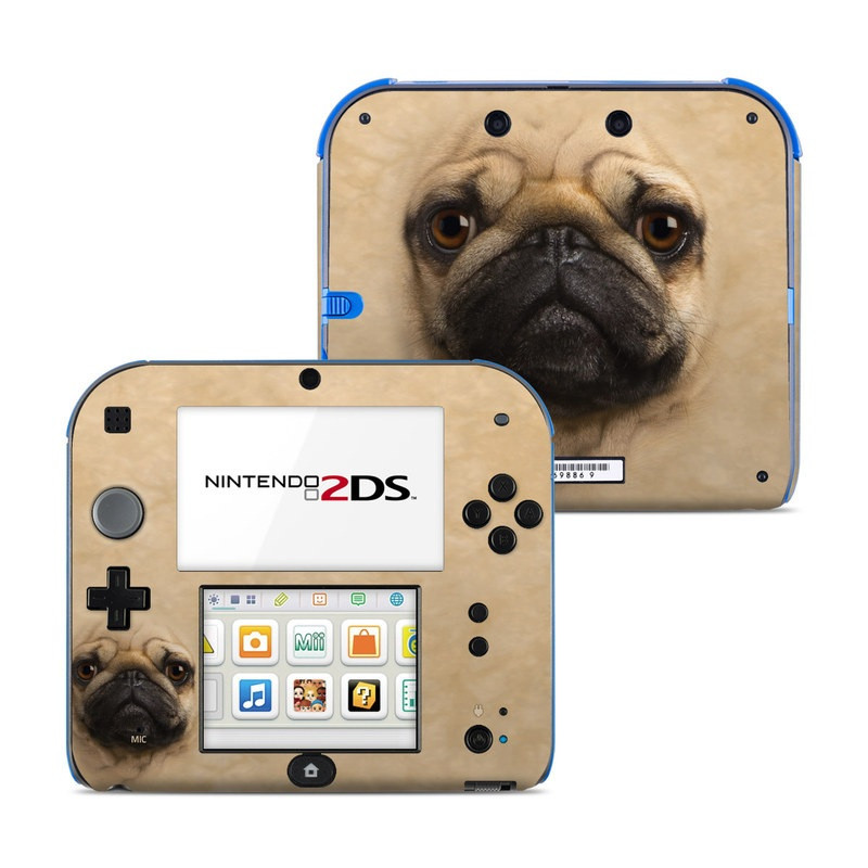 Nintendo 2ds Skin Pug By The Mountain Decalgirl