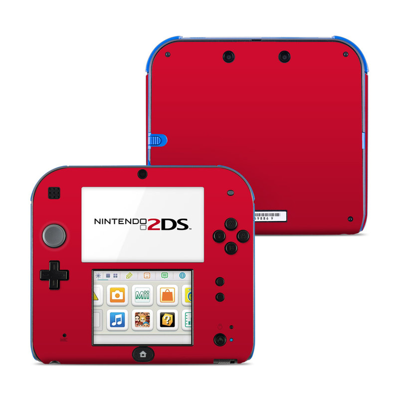 nintendo 2ds skin solid state red by solid colors decalgirl