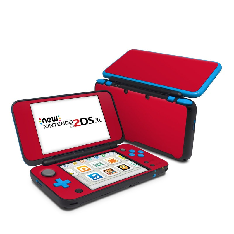 Nintendo 2ds xl skin solid state red by solid colors for Housse 2ds xl pokemon