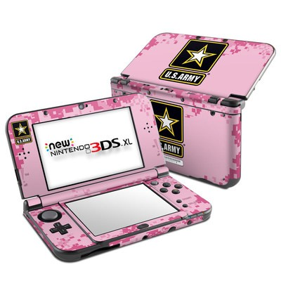 Nintendo New 3DS XL Skin - Army Pink