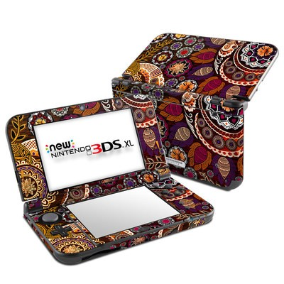 Nintendo New 3DS XL Skin - Autumn Mehndi