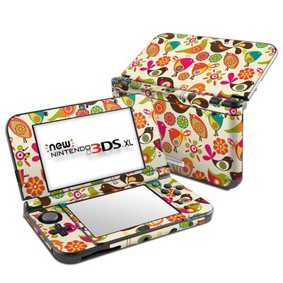 Nintendo New 3DS XL Skin - Bird Flowers