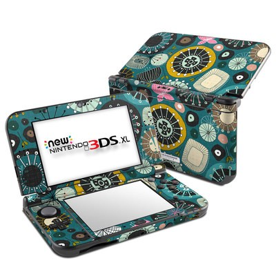 Nintendo New 3DS XL Skin - Blooms Teal