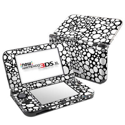 Nintendo New 3DS XL Skin - BW Bubbles
