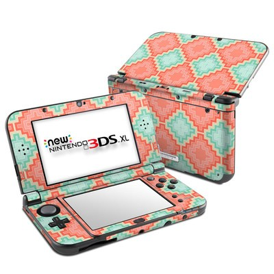 Nintendo New 3DS XL Skin - Coral Diamond