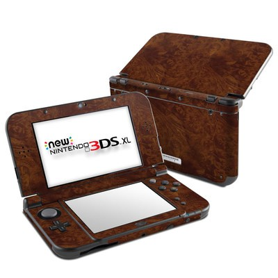 Nintendo New 3DS XL Skin - Dark Burlwood