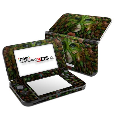 Nintendo New 3DS XL Skin - Green Woman