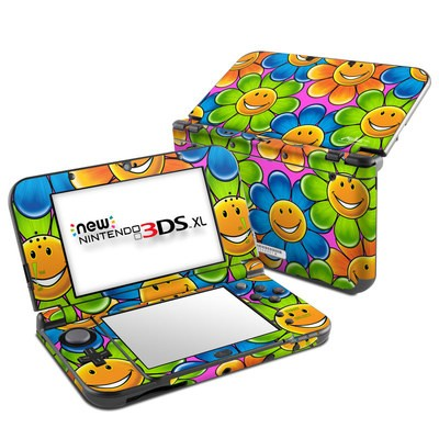 Nintendo New 3DS XL Skin - Happy Daisies