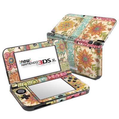 Nintendo New 3DS XL Skin - Ikat Floral