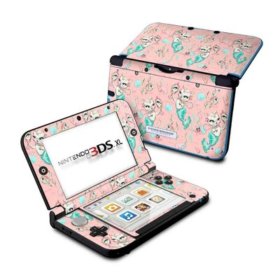 Nintendo New 3DS XL Skin - Merkittens with Pearls Blush