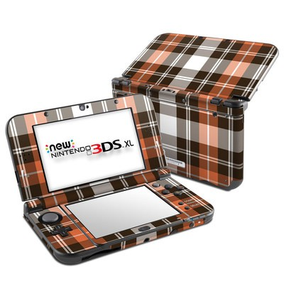 Nintendo New 3DS XL Skin - Copper Plaid