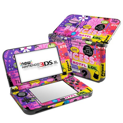 Nintendo New 3DS XL Skin - Princess Text Me