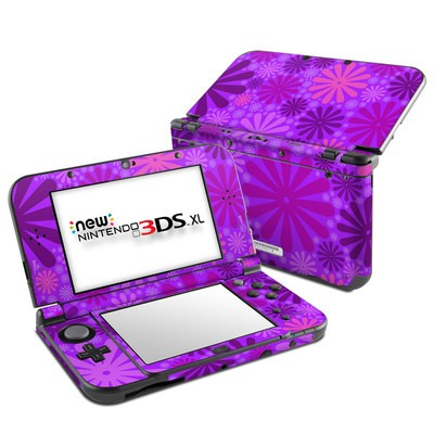 Nintendo New 3DS XL Skin - Purple Punch