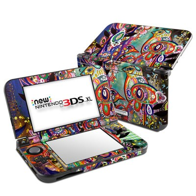 Nintendo New 3DS XL Skin - Purple Birds