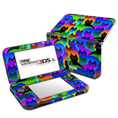 Nintendo New 3DS XL Skin - Rainbow Cats
