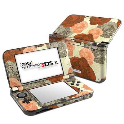 Nintendo New 3DS XL Skin - Roses