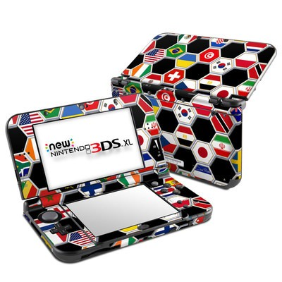 Nintendo New 3DS XL Skin - Soccer Flags