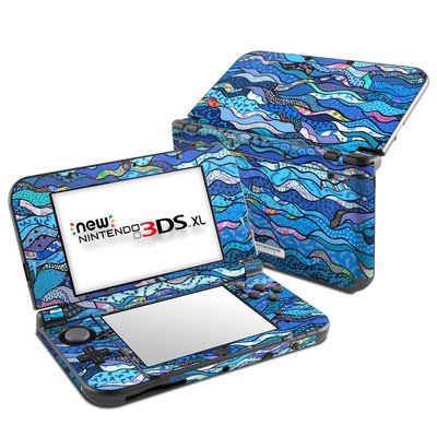 Nintendo New 3DS XL Skin - The Blues