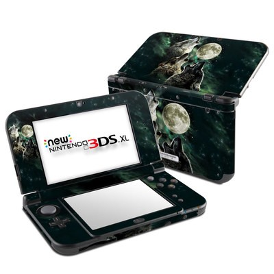 Nintendo New 3DS XL Skin - Three Wolf Moon