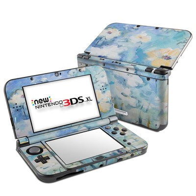 Nintendo New 3DS XL Skin - White & Blue