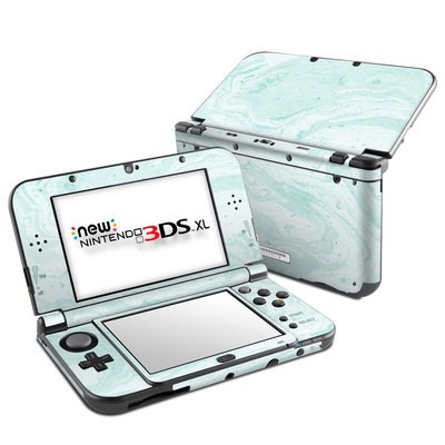 Nintendo New 3DS XL Skin - Winter Green Marble