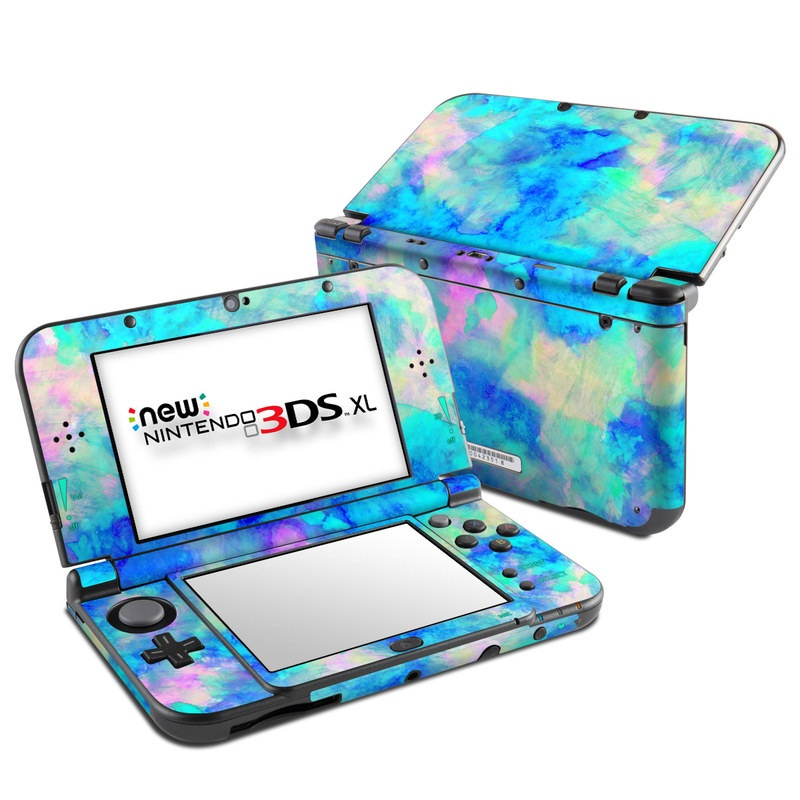 Nintendo new 3ds xl skin electrify ice blue