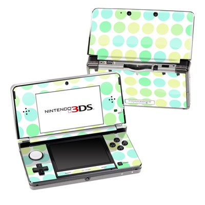 Nintendo 3DS Skin - Big Dots Mint