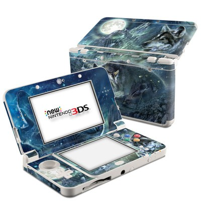 Nintendo 3DS 2015 Skin - Bark At The Moon