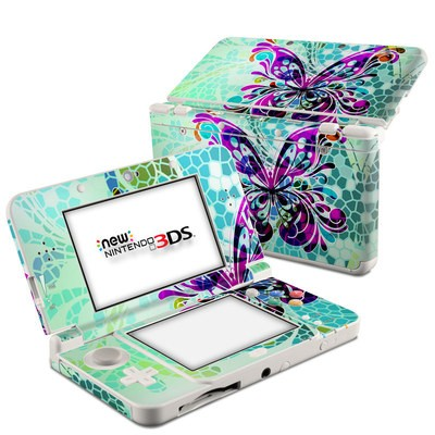 Nintendo 3DS 2015 Skin - Butterfly Glass
