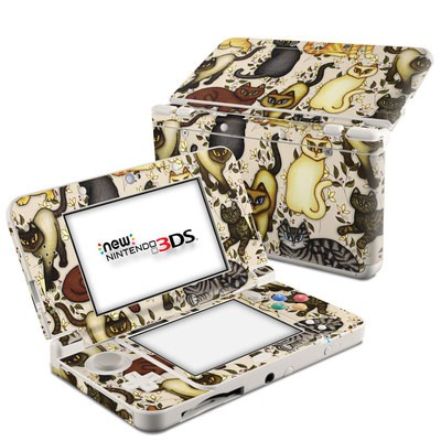 Nintendo 3DS 2015 Skin - Cats