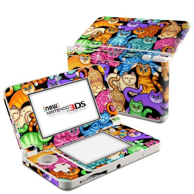 Nintendo 3DS 2015 Skin - Colorful Kittens