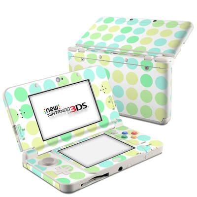 Nintendo 3DS 2015 Skin - Big Dots Mint