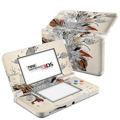 Nintendo 3DS 2015 Skin - Fall Floral