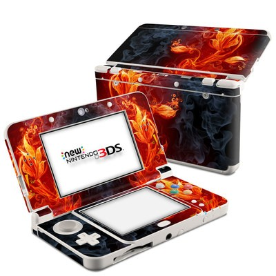 Nintendo 3DS 2015 Skin - Flower Of Fire
