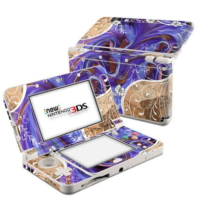 Nintendo 3DS 2015 Skin - Purple Waves