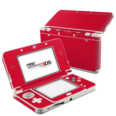 Nintendo 3DS 2015 Skin - Solid State Red