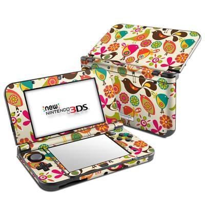 Nintendo 3DS LL Skin - Bird Flowers