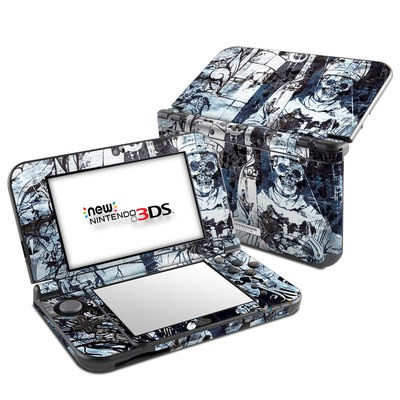 Nintendo 3DS LL Skin - Black Mass
