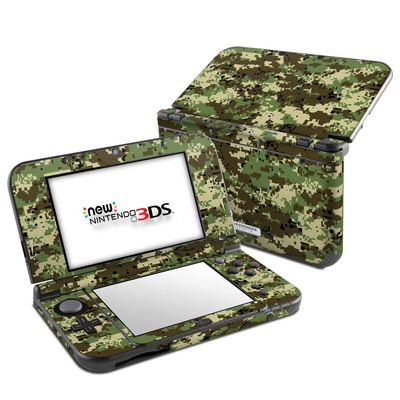 Nintendo 3DS LL Skin - Digital Woodland Camo